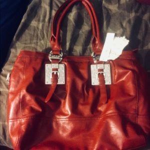 LYDC LONDON Bags - LYDC  London Red Shoulder Bag Purse